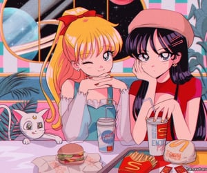 90's, animation, and fast food image