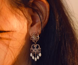 casual, ear, and hoop image