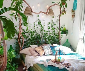 green, home, and bedroom image