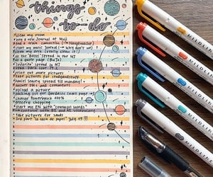 colors, journaling, and things to do image