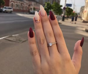 nails, red, and woman image