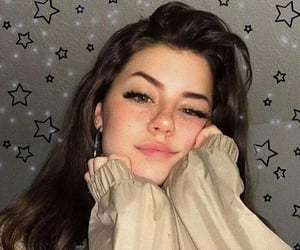 girl, pretty, and stars image
