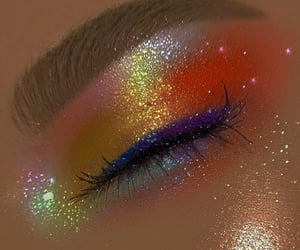 glitter, eye makeup, and indie image