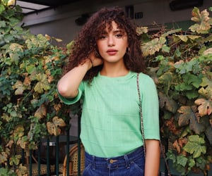 brown hair, clothes, and curly image