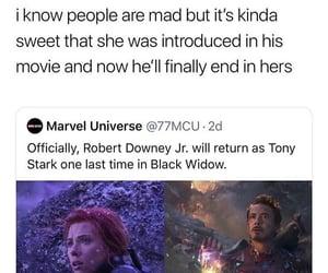 black widow, Marvel, and tony image
