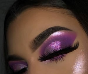 makeup, purple, and eyeshadow image