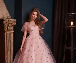 dress, fluffy, and gorgeous image