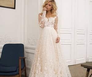 etsy, open back, and wedding dress image
