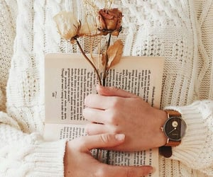 autumn, hand watch, and books image