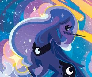 moon, my little pony, and cartoon image