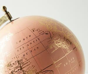 chic, globe, and gold image