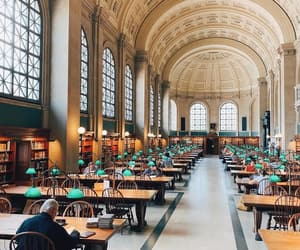 architecture, chairs, and library image