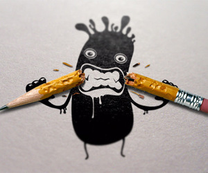 pencil, art, and funny image