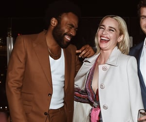 emilia clarke and donald glover image