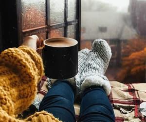 autumn, coffee, and season image