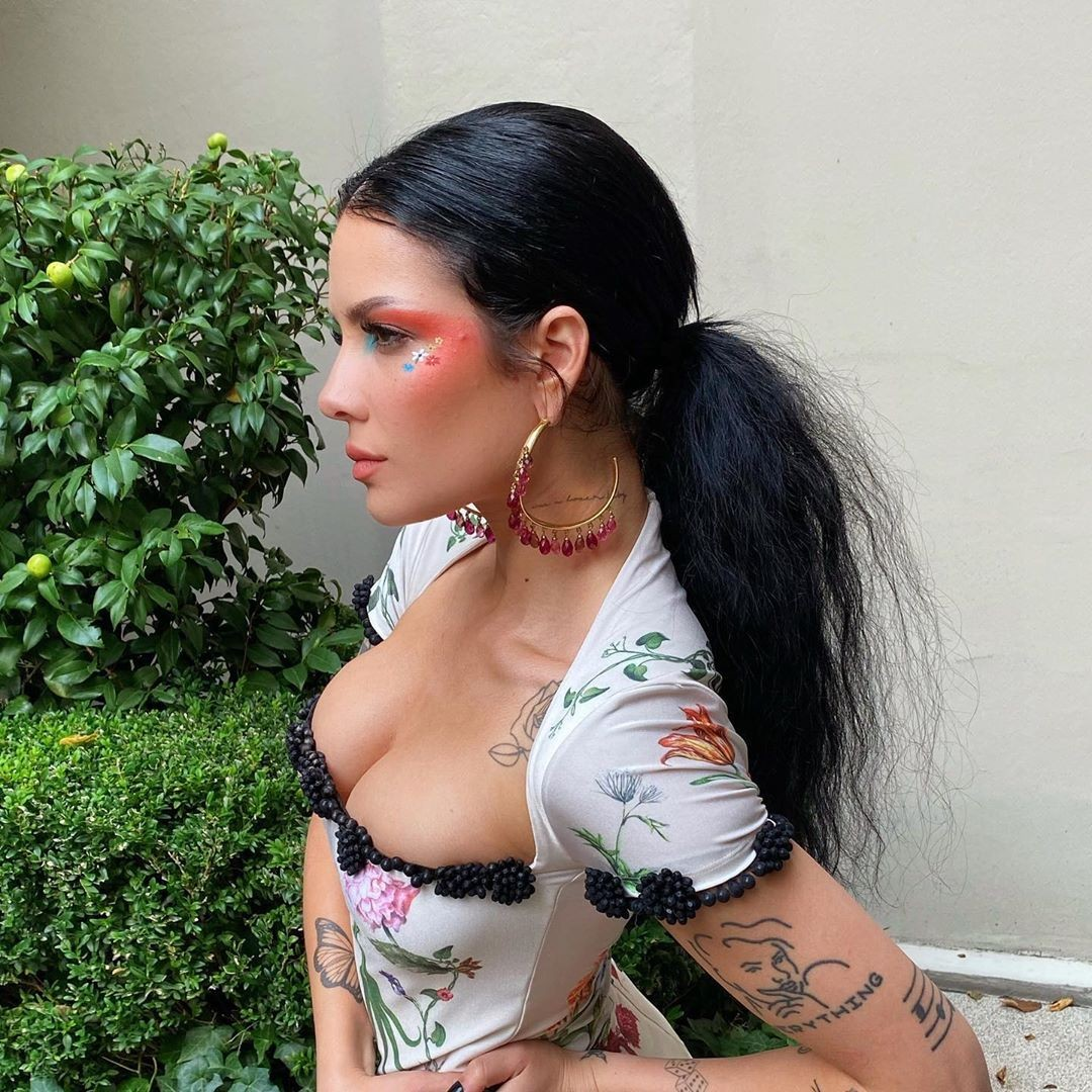 halsey, music, and tattoo image