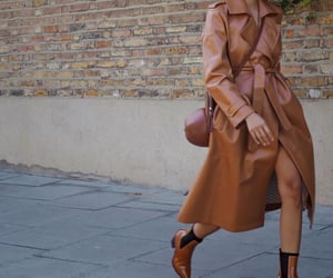 boots, neutrals, and trench coat image
