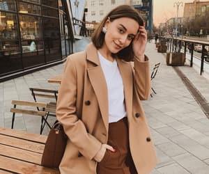 bag, blazer, and brown image