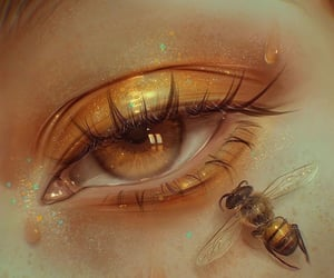 art, eye, and freckles image