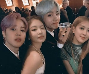 rose, taehyung, and bts image