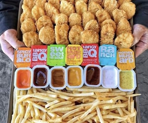 food, fries, and nuggets image