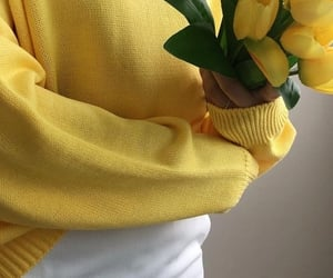 aesthetic, yellow, and flowers image