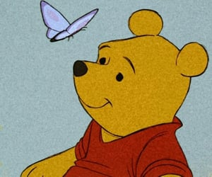 disney, winnie the pooh, and butterfly image