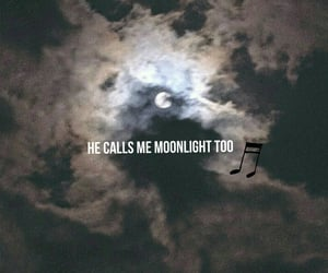 Lyrics, moon, and night sky image