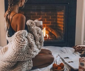 girl, autumn, and cozy image