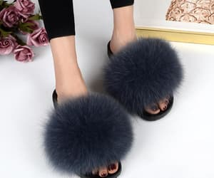 etsy, women's shoes, and fur sandals image