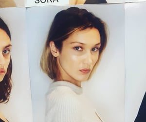 model, beauty, and bella hadid image