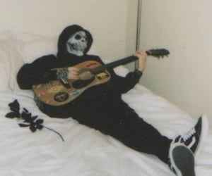 grunge, aesthetic, and guitar image