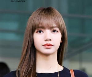 bangs, haircut, and lalisa manoban image