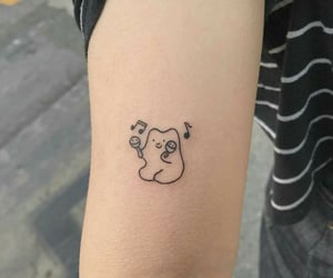 bear, cartoon, and music image