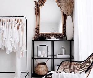 interior, mirror, and decor image