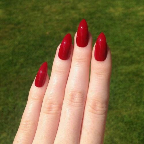 Immagine di nails, red, and beauty