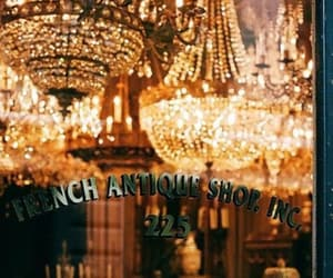 antique, chandelier, and french image