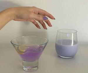 purple, aesthetic, and drink image