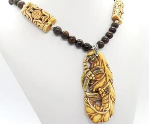 beaded necklace, M, and mens necklace image