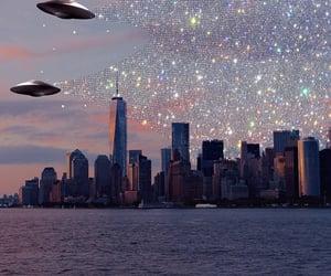 aesthetic, aliens, and sunrise image