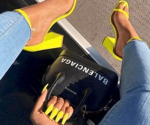 nails, Balenciaga, and shoes image