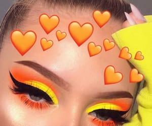makeup, orange, and yellow image