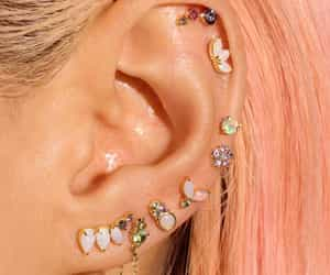 earing, jewelry, and ring image