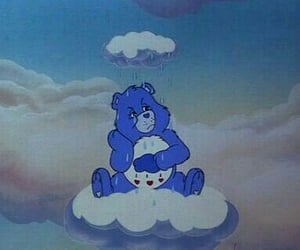 aesthetic, blue, and care bear image