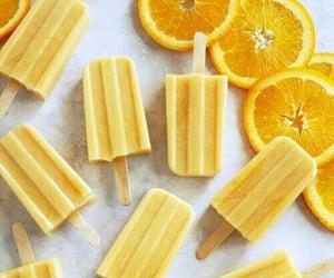 yellow, food, and ice cream image