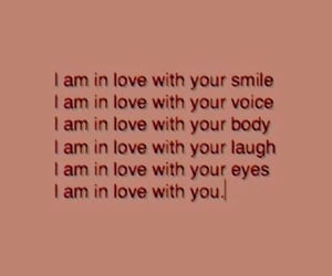 love, smile, and voice image