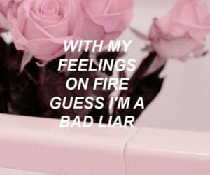 pink, bad liar, and rose image