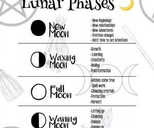moon, wicca, and lunar phases image