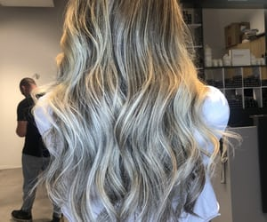 blonde, curls, and silver image