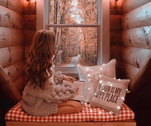 cozy, girl, and autumn image